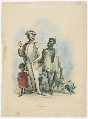 Sketches describing equality, fraternity, universal sufferage [sic] and being out and being in / Henry Glover