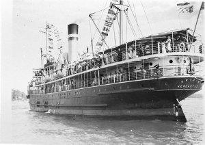 "Hunter River Steamship Co.'s SS ""Gwydir"" as flagship"