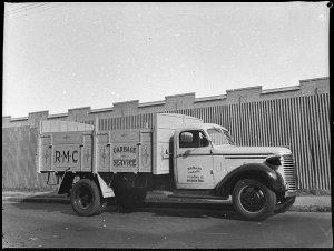 Randwick Municipal Council tipping garbage truck (taken for W.R. Beecraft Ltd)