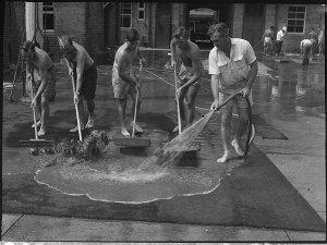 Apex flood clean up