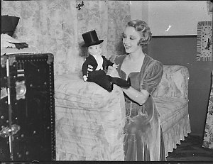 Irene Purcell with doll