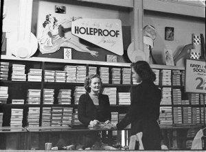 Holeproof hosiery display