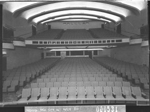 The auditorium from the stage, Minerva Theatre (taken for Building Publishing Co)