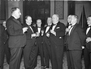 Delegates having a drink
