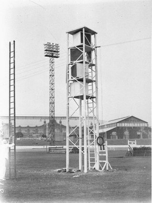 The loud-speaker tower in the ring