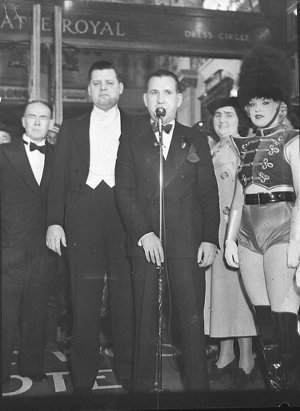 """Opening night, """"Hollywood Hotel Revue"""" (taken for Fuller's Theatres Ltd)"""