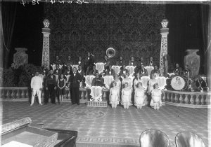 Band with the Capitol Pony Ballet, including Queenie Royale, Reike Williams, Joan Swain, Thelma Brice etc
