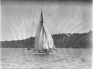 A maxi with spinnaker set