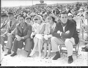 Charles Farrell, Zane Grey and Lillian Pertka at Bondi surf carnival