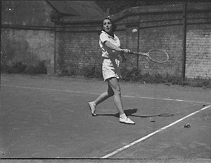 Billy Worth playing tennis (taken for J.C. Williamson)