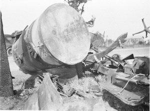 British Australian Petroleum (B.A.P.) petrol tanker smash (Plume Motor Spirit)