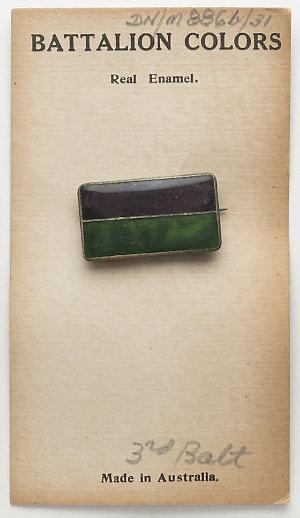 Item 0886b/031: Military badge, Sweetheart Brooch, 3rd Battalion