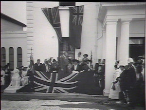 The Governor, Sir Gerald Strickland, declaring the hospital open