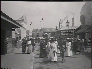 Visitors to the show among the exhibits, Royal Agricultural Show