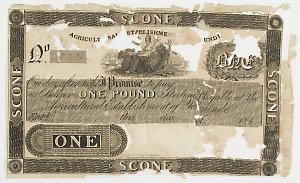 Item 238: Currency note, unissued, Agricultural Establishment of Yarrundi, [184-?]