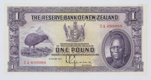Item 738: Reserve Bank of New Zealand, banknote, one pound, 1934