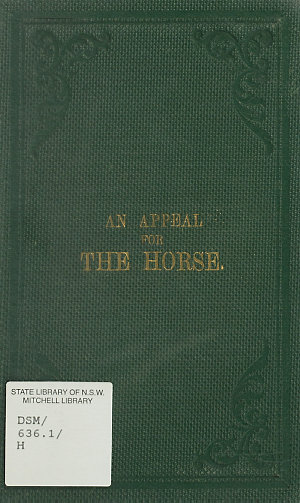 An appeal for the horse / by Geo. Hamilton.