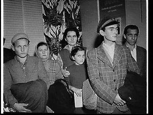 Hungarian refugees at Mascot