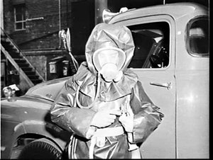 New Dunlop protective fire suit and respirator for the Fire Brigade