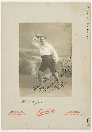 Umberto Salvi, singer, 1900 / Langfier Ltd., 23A Old Bond St., London.W ; 158 Sauchiehall St., Glasgow