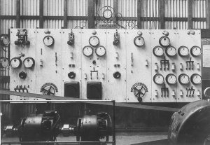 First town electricity supply, control board - Cobar, NSW