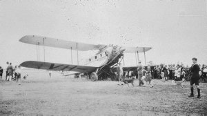 """This was one of the planes accompanying Southern Cross in 1932. A DH Biplane named """"Canberra"""" - Leeton, NSW"""