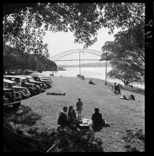 File 22: Mrs Macquarie's Chair, 1950s / photographed by Max Dupain