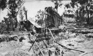 Race and sluicing equipment at Boonoo Boonoo Gold Mine - Tenterfield, NSW