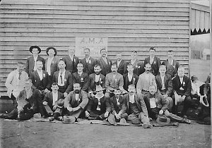 Group of miners AMA (Shuttleton Branch) Trade Union - Cobar area, NSW