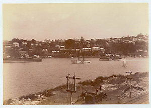 Lavender Bay [including steam locomotive and railway turntable]