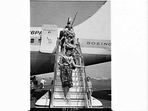 Pan American Boeing 707 jet airliner Jet Clipper Flying Eagle at Mascot Airport