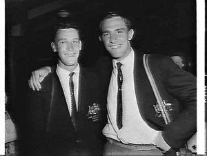 Members of the 1960 Junior Davis Cup team of Newcastle, Mascot