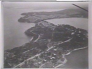 Lake View and part of Wangi Peninsula, Lake Macquarie. Copy