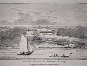Govt House Sydney from original drawing by W. Westall
