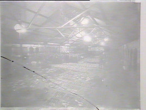 Sydney Fish Markets, interior taken by electric light