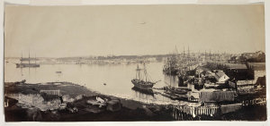 [Campbell's Wharf and Sydney Cove from Dawes Point / possibly by Freeman Brothers or Prout]