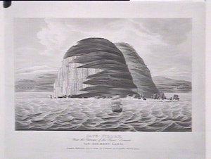 Cape Pillar near entrance River Derwent. Van Diemens Land