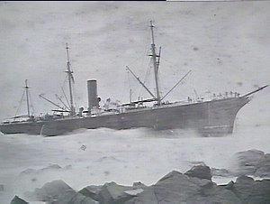 S.S. Sorata on Cape Jervis, South Australia