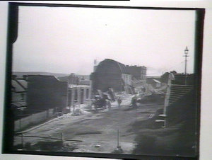 Demolition of houses, Dawes Point