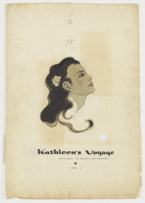 File 06: Kathleen's voyage, Capetown, St. Helena and Assension [Ascension], Log 6, December 1947-January 1948