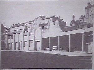 Pottinger Street with garages underneath