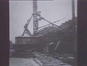 concrete mixer & shute, construction of New Pottinger St