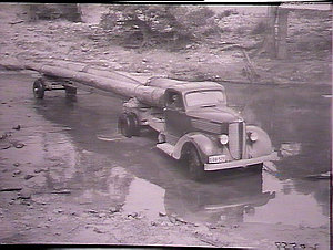 Timber lorry in Stroud District