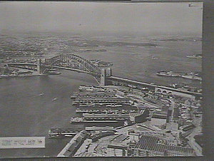 Aerial view of Sydney Harbour, from the Bridge to the Heads