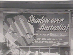 VD shadow over Australia poster