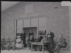 Opening of Lidcombe Court House by Premier J.J. Cahill