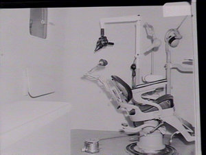 Mobile dental health unit at Parramatta Workshops