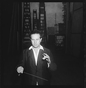 File 13: [Portrait of unknown man conducting, ca 1934-1956] / photographed by Max Dupain