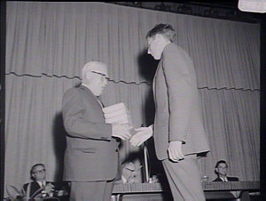 Presentation of awards at Turner Hall, STC, to School of Commerce