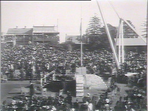 Laying foundation stone, Prince Alfred Hospital, by Duke of York
